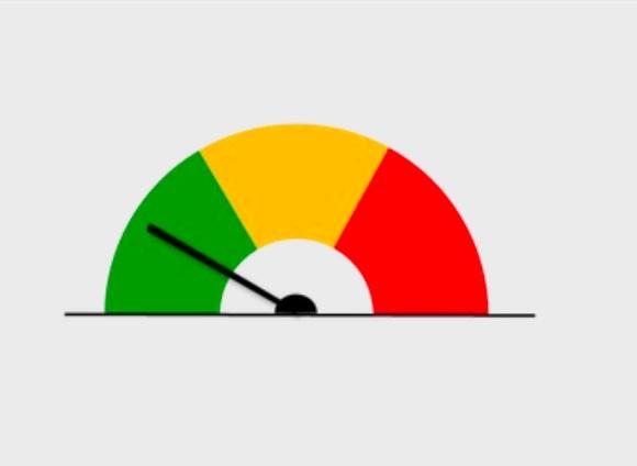 curseur allant de vert à rouge selon l'évaluation de votre niveau de stress